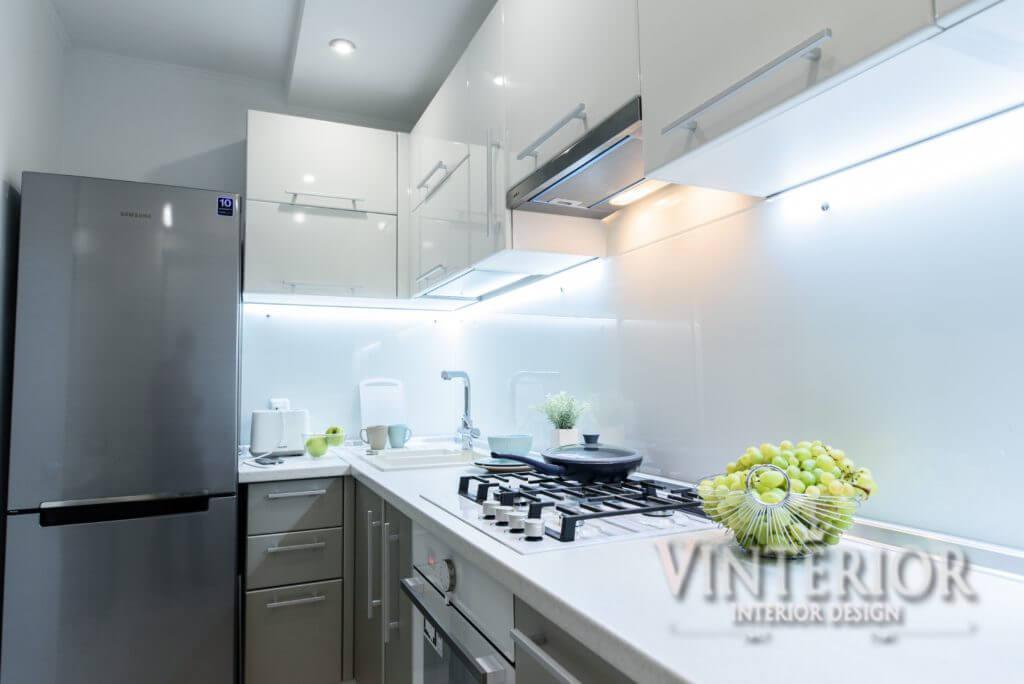 Дизайн кухни-студии